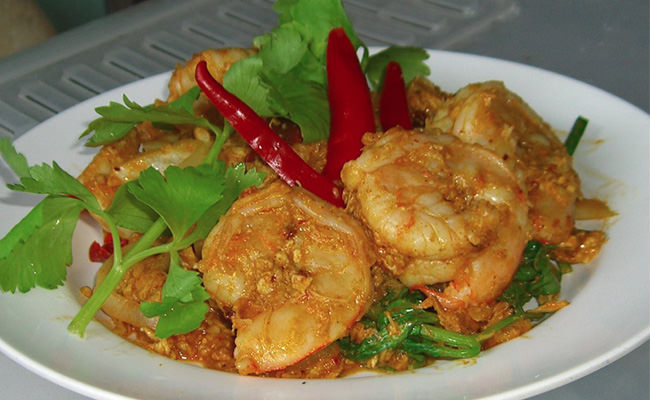 Shrimp With Curry